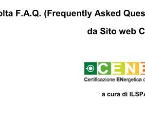 Aggiornamento CENED (Raccolta FAQ)