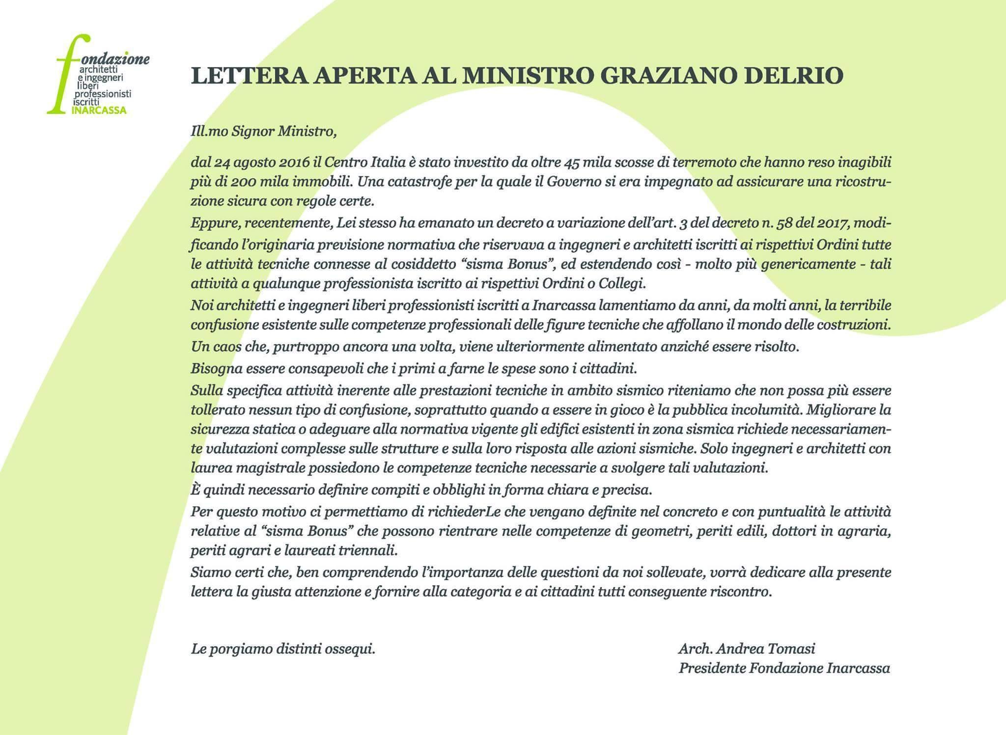 Fondazione_Inarcassa_Lettera_Delrio