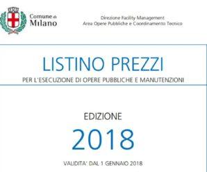 Listino Prezzi Op.Ed. – 2018