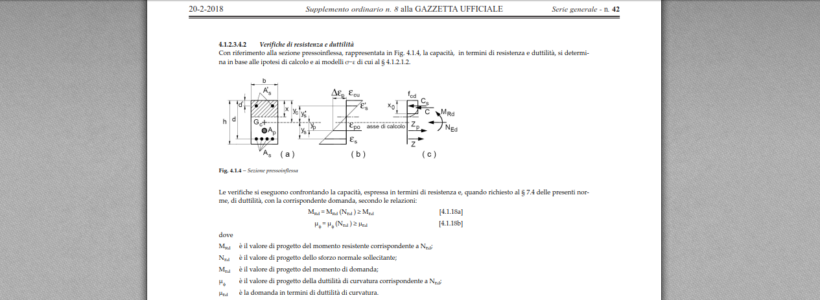 NTC2018 - CLS - Verifica a Flessione (SLU) di sezioni rettangolari