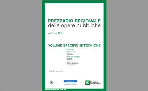 Prezzario delle Opere Pubbliche 2019 - Regione Lombardia e Comune di Milano