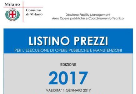 Listino Prezzi Opere Edili Milano 2017 - 01